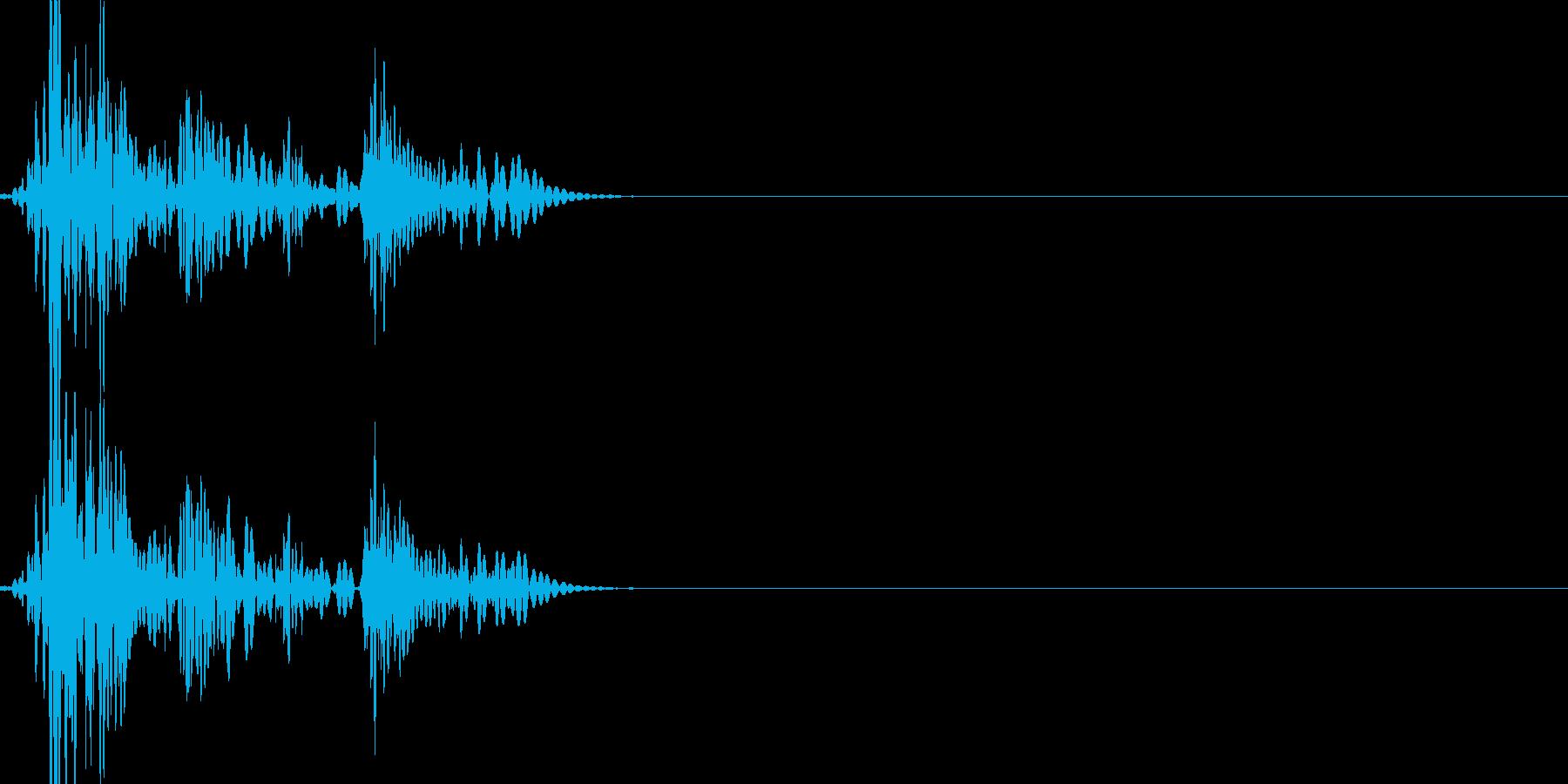 ドカボカッ(打撃の連続攻撃)の再生済みの波形