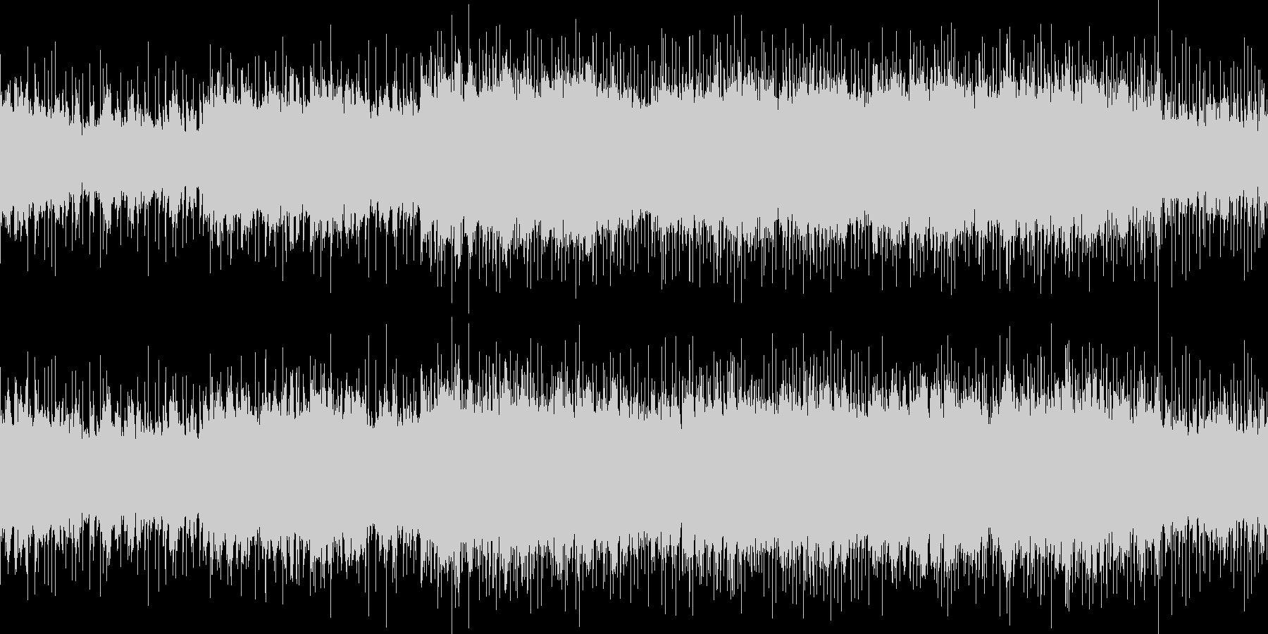 ハードロック調の戦闘曲風チューンの未再生の波形