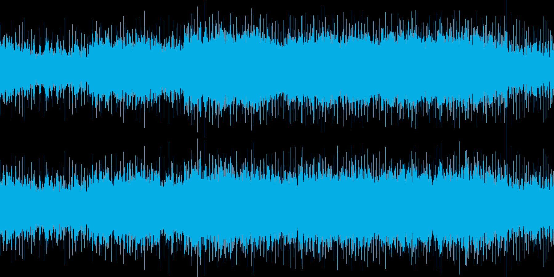 ハードロック調の戦闘曲風チューンの再生済みの波形