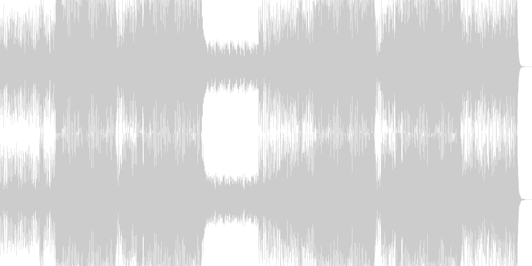 重い雰囲気のストリングスとデジタルビートの未再生の波形