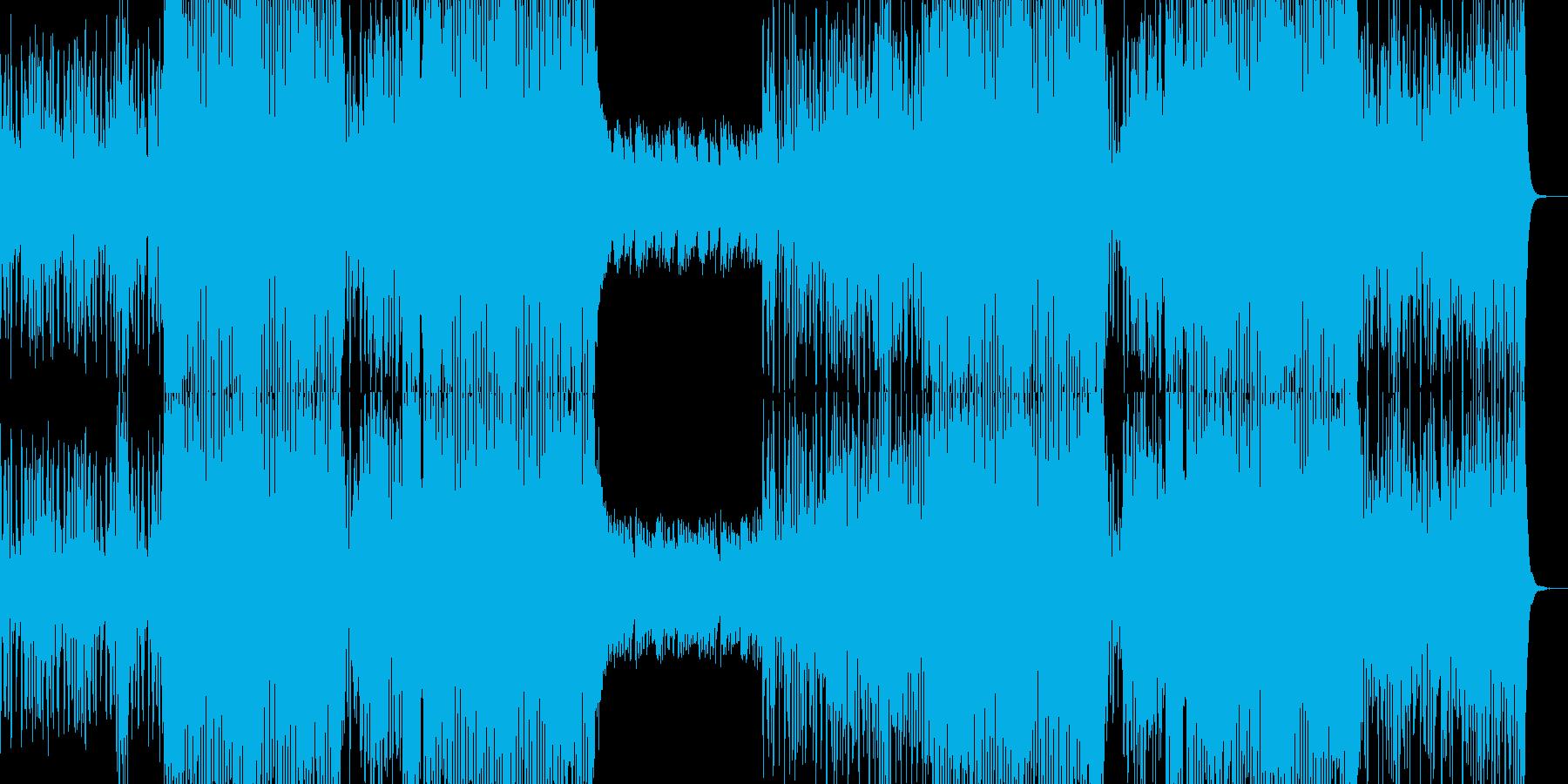 重い雰囲気のストリングスとデジタルビートの再生済みの波形