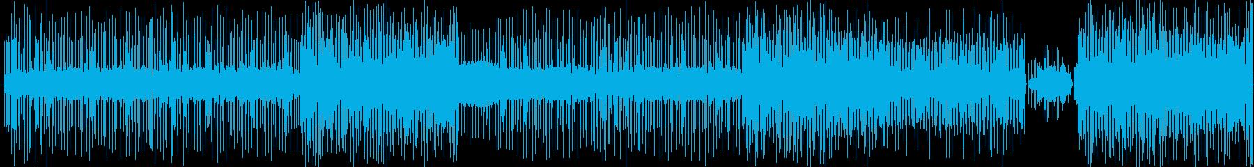 チップチューン風インストの再生済みの波形