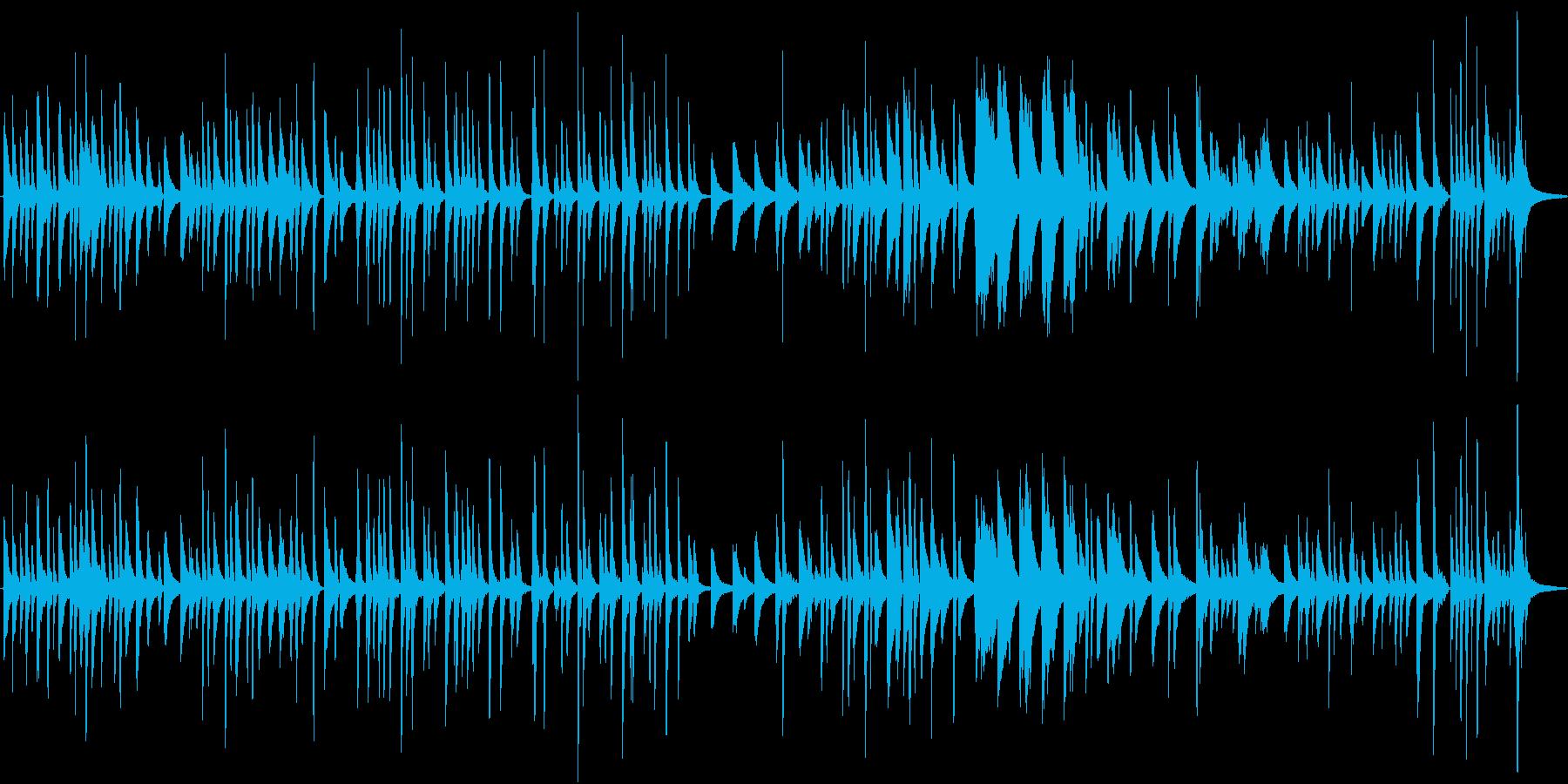 ピアノソロ ロンドン橋落ちた 童謡の再生済みの波形