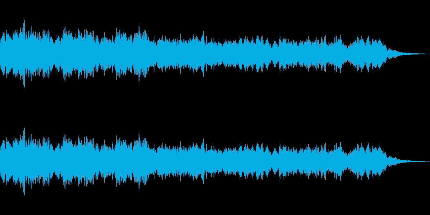 幻想的な感じを出すためのストリングスSEの再生済みの波形