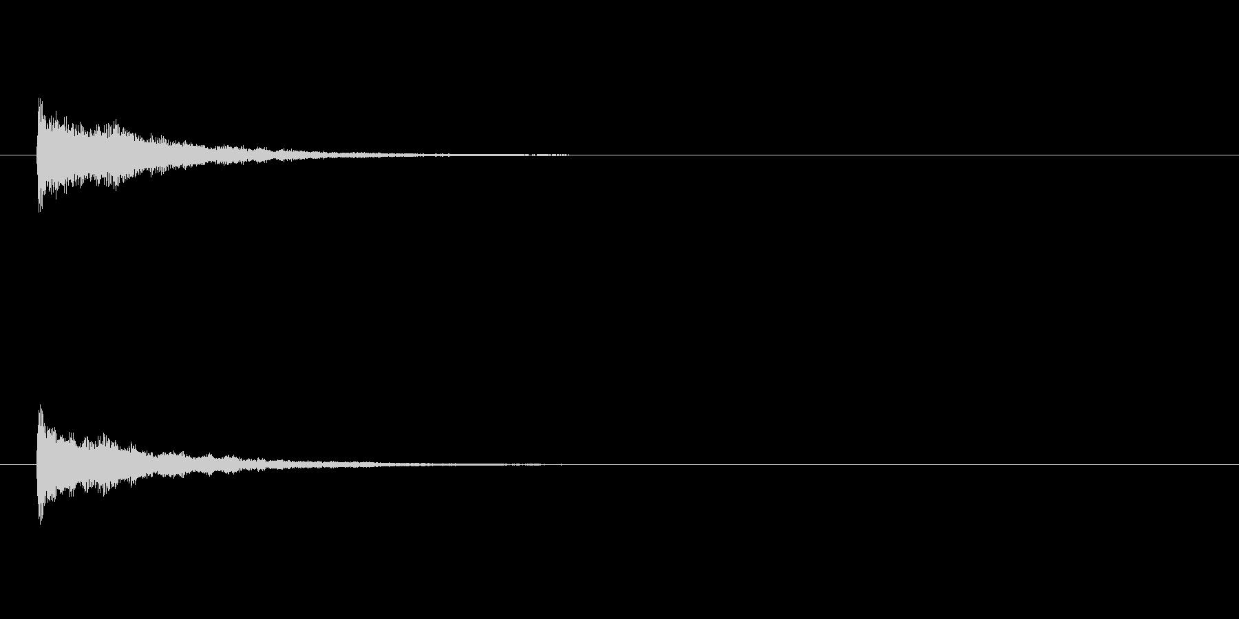 レベルアップ効果音の未再生の波形