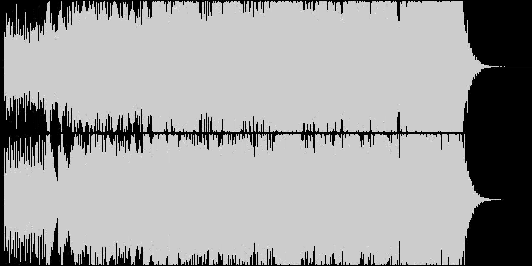 派手なオープニングファンファーレの未再生の波形