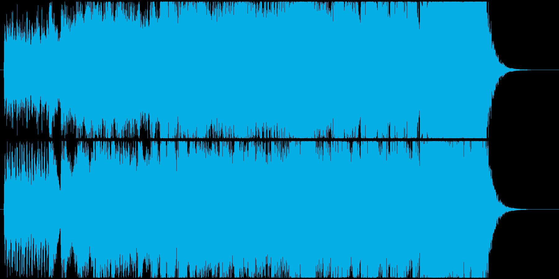 派手なオープニングファンファーレの再生済みの波形