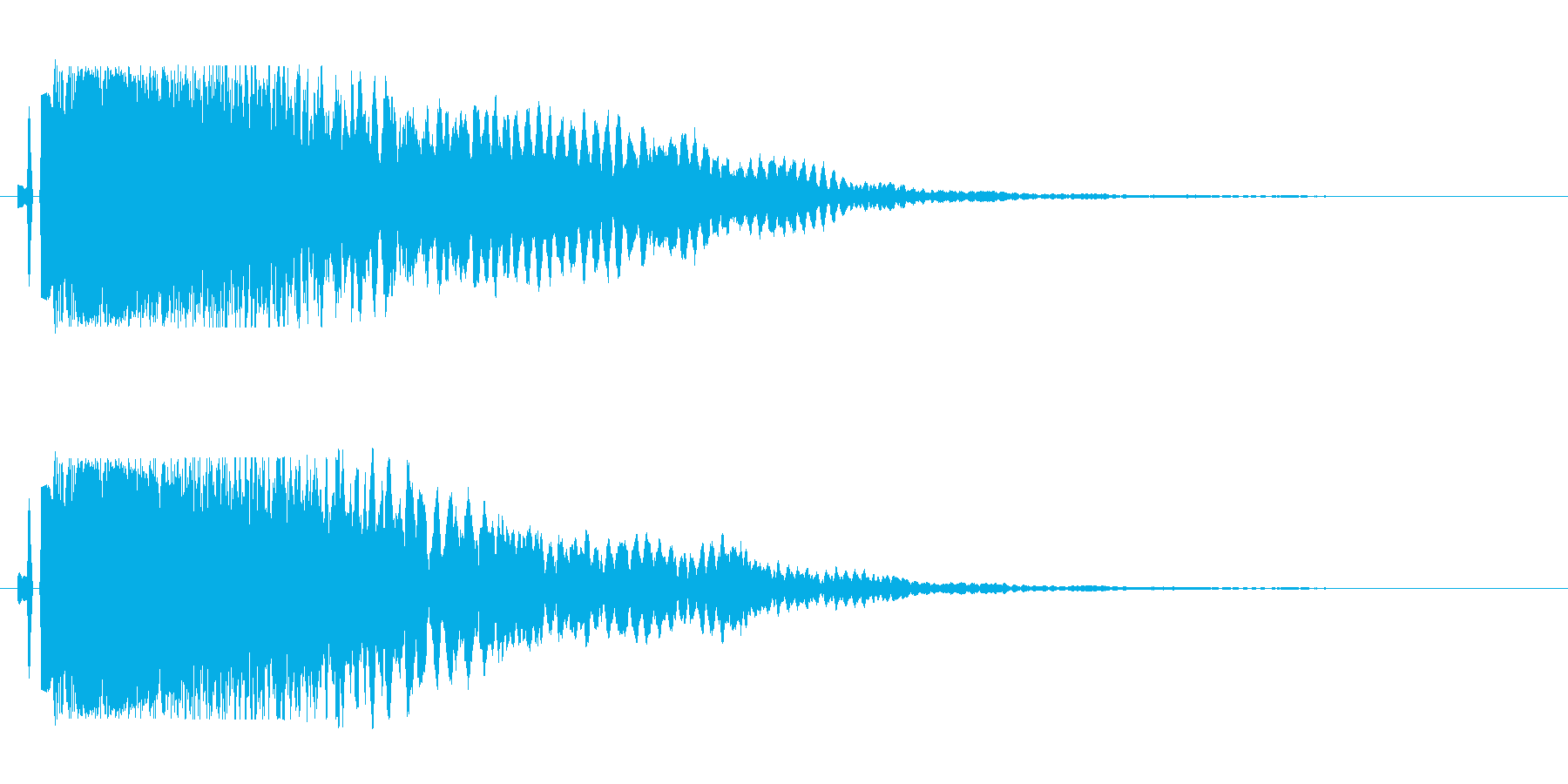 シャキーン(少し低めの音)の再生済みの波形