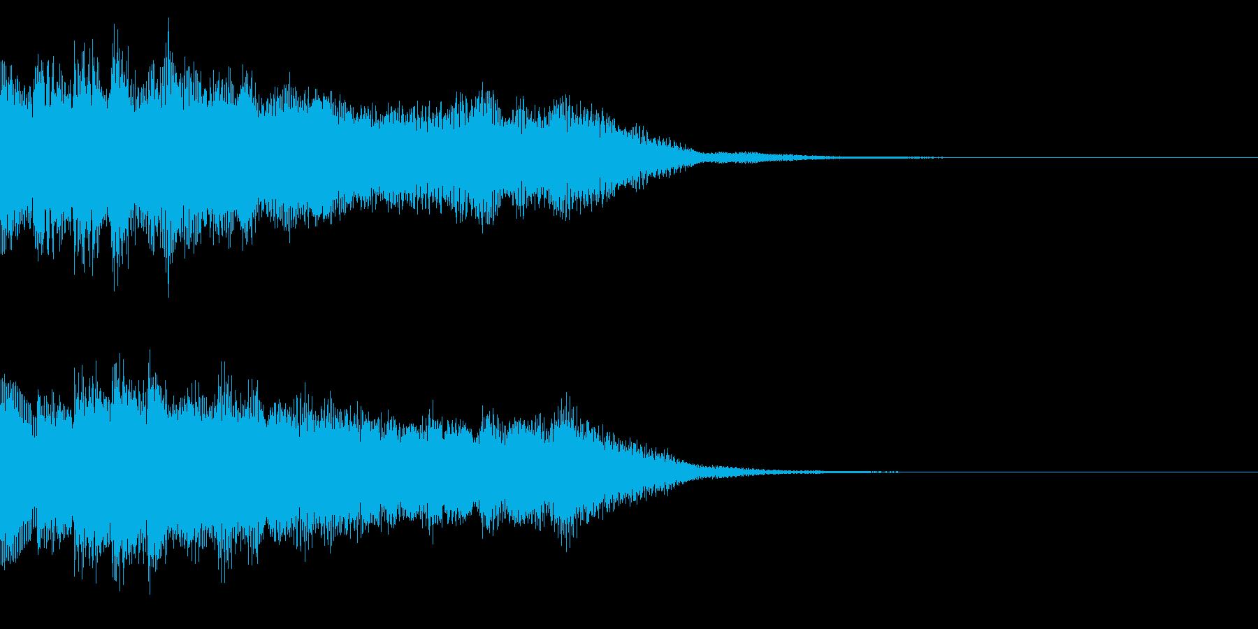 サウンドロゴ24_シンセの再生済みの波形