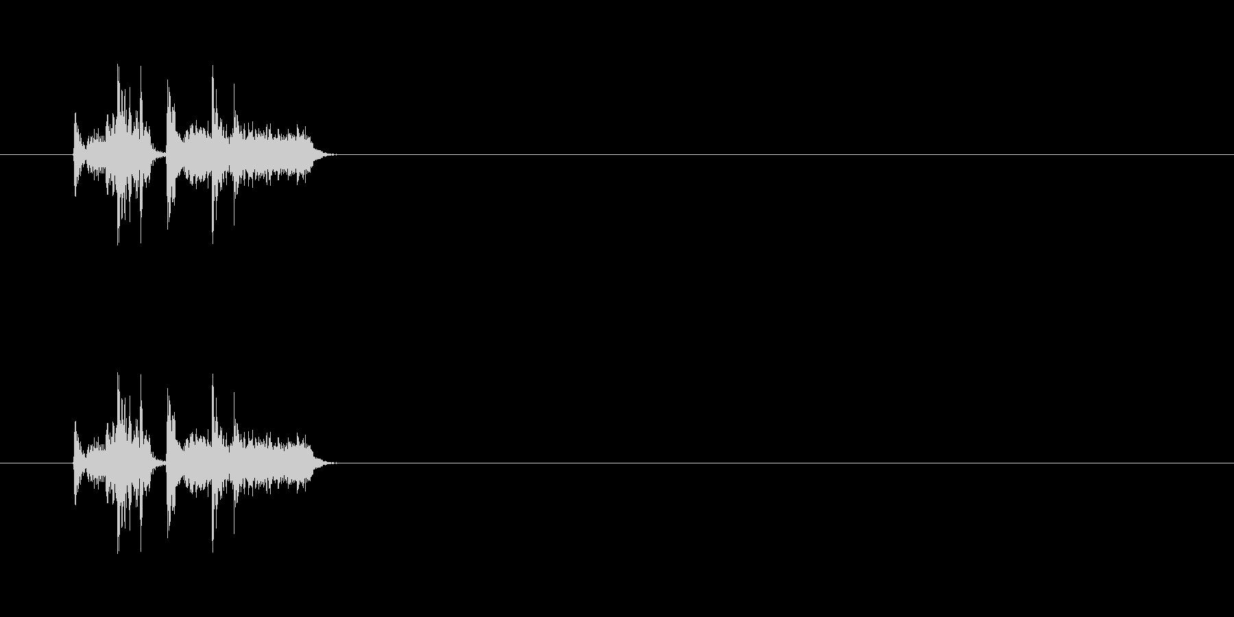 【カメラ シャッター01-1】の未再生の波形