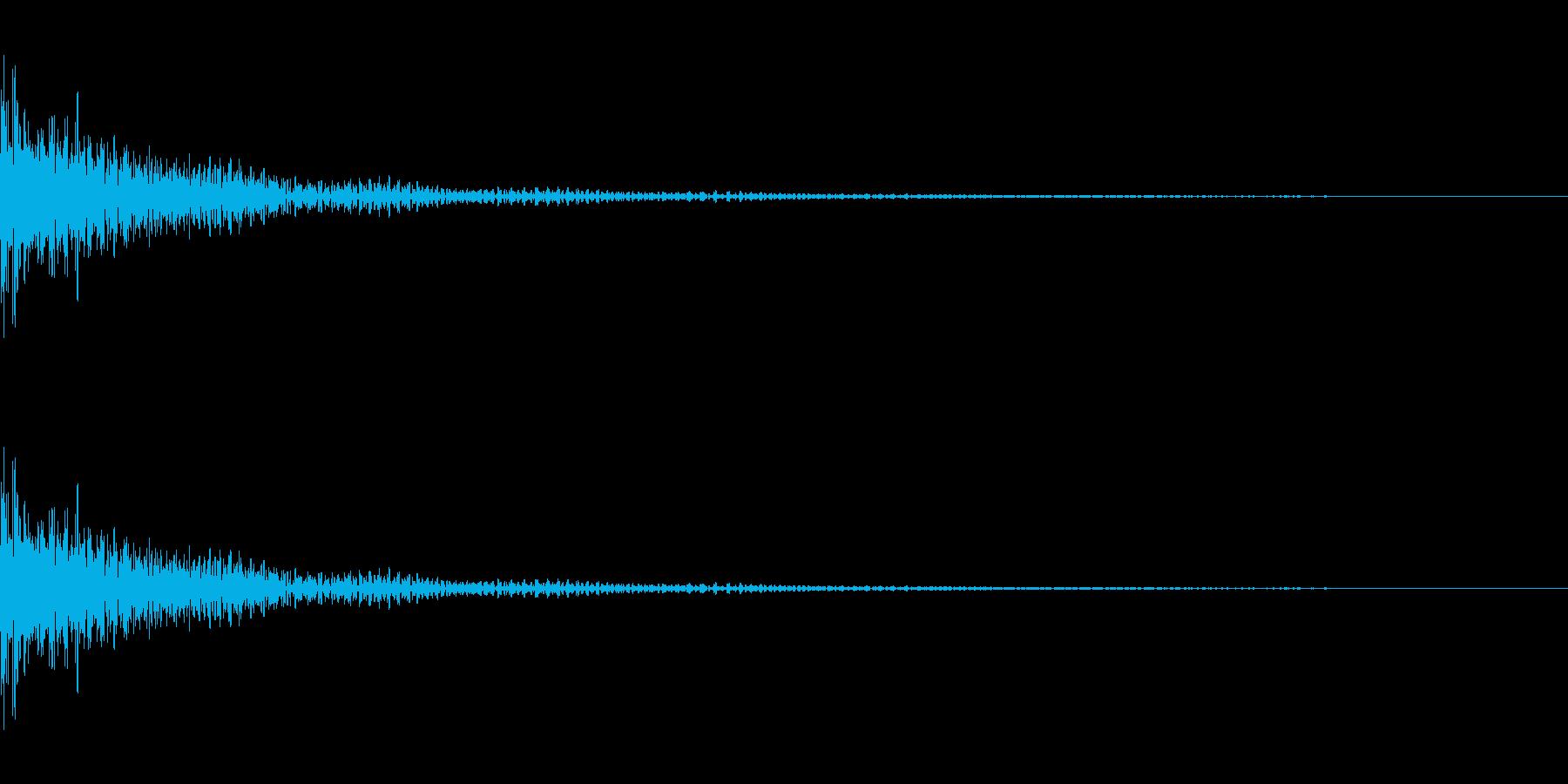 コミカルなティンパニ。「ボヨンボヨン」の再生済みの波形