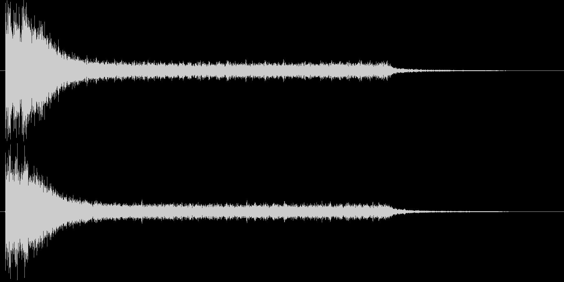 サスペンスのショートソングの未再生の波形