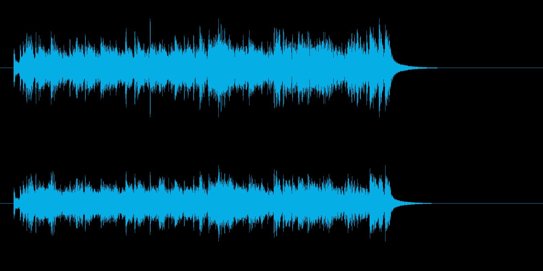 ジングル(お昼風)の再生済みの波形