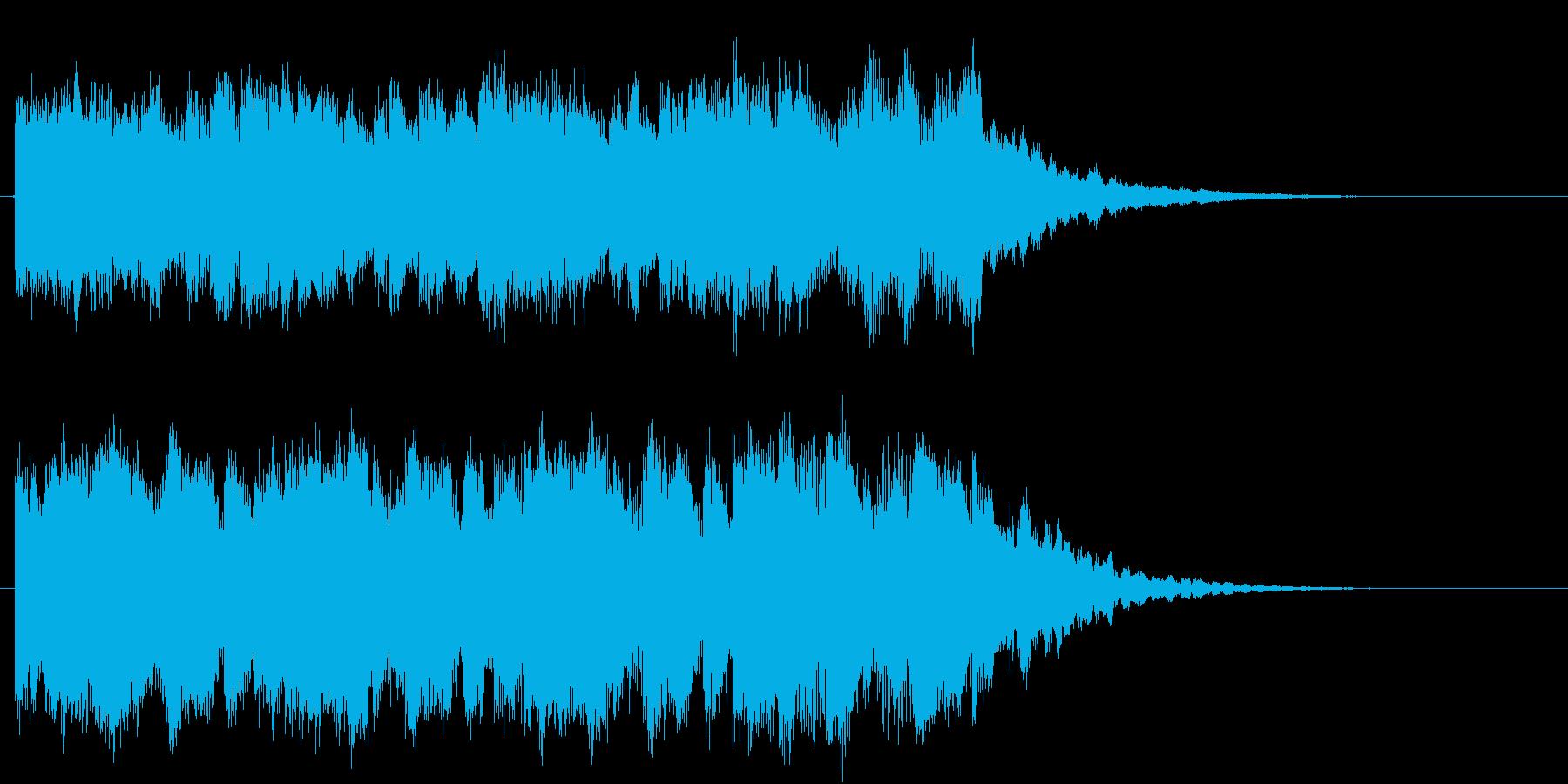 疾走感のある幻想的・未来的なロゴの再生済みの波形