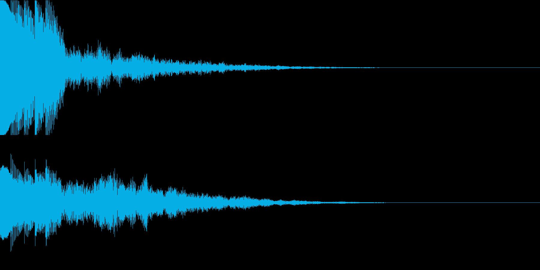 ポポポポポーンの再生済みの波形