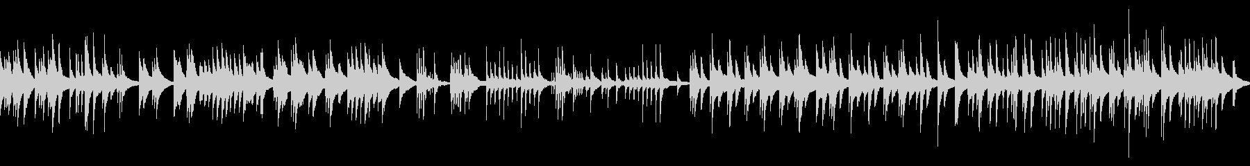 切ないピアノソロ単音結婚式感謝の手紙の未再生の波形