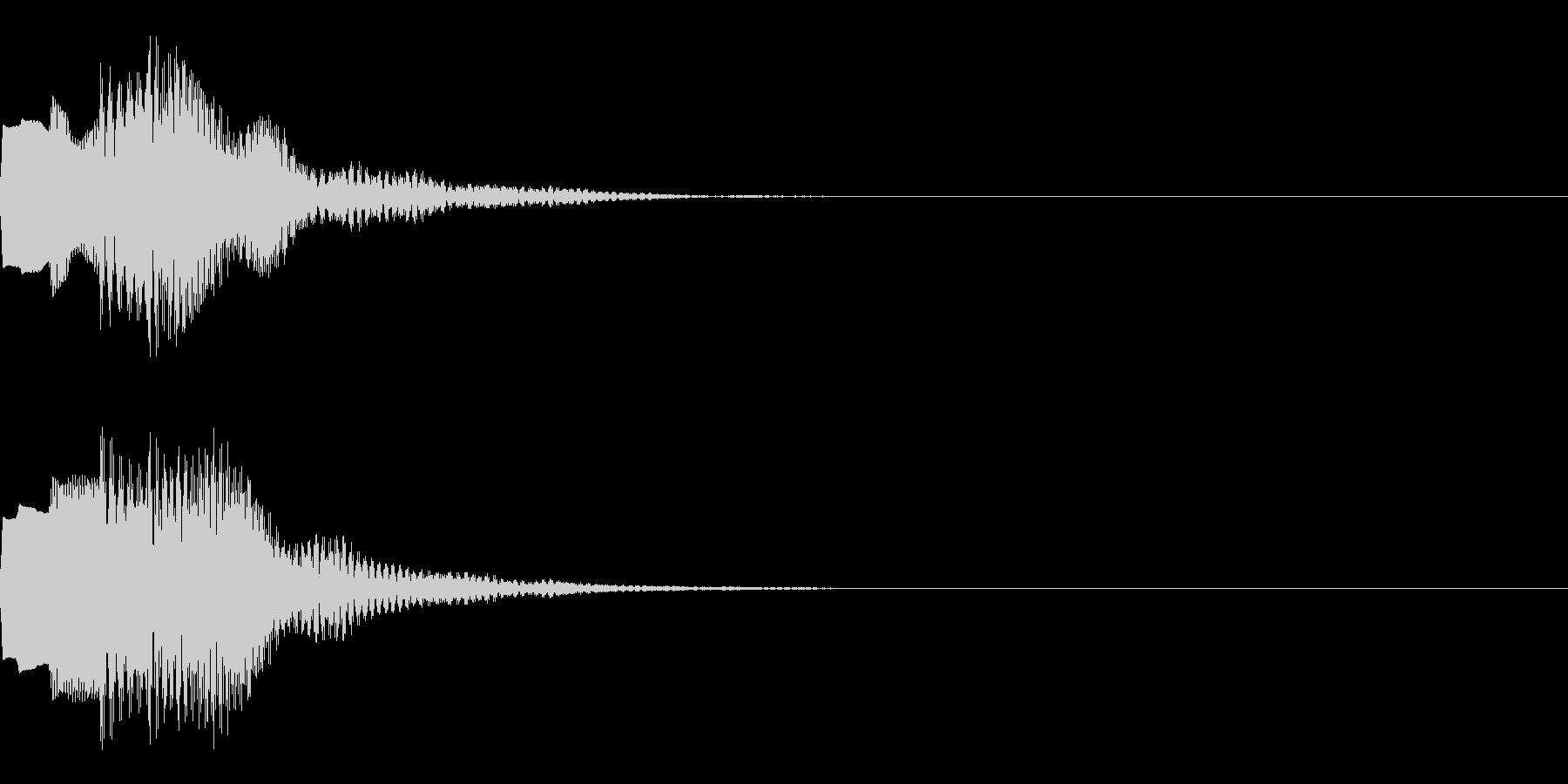 決定音66_シンセAIの未再生の波形