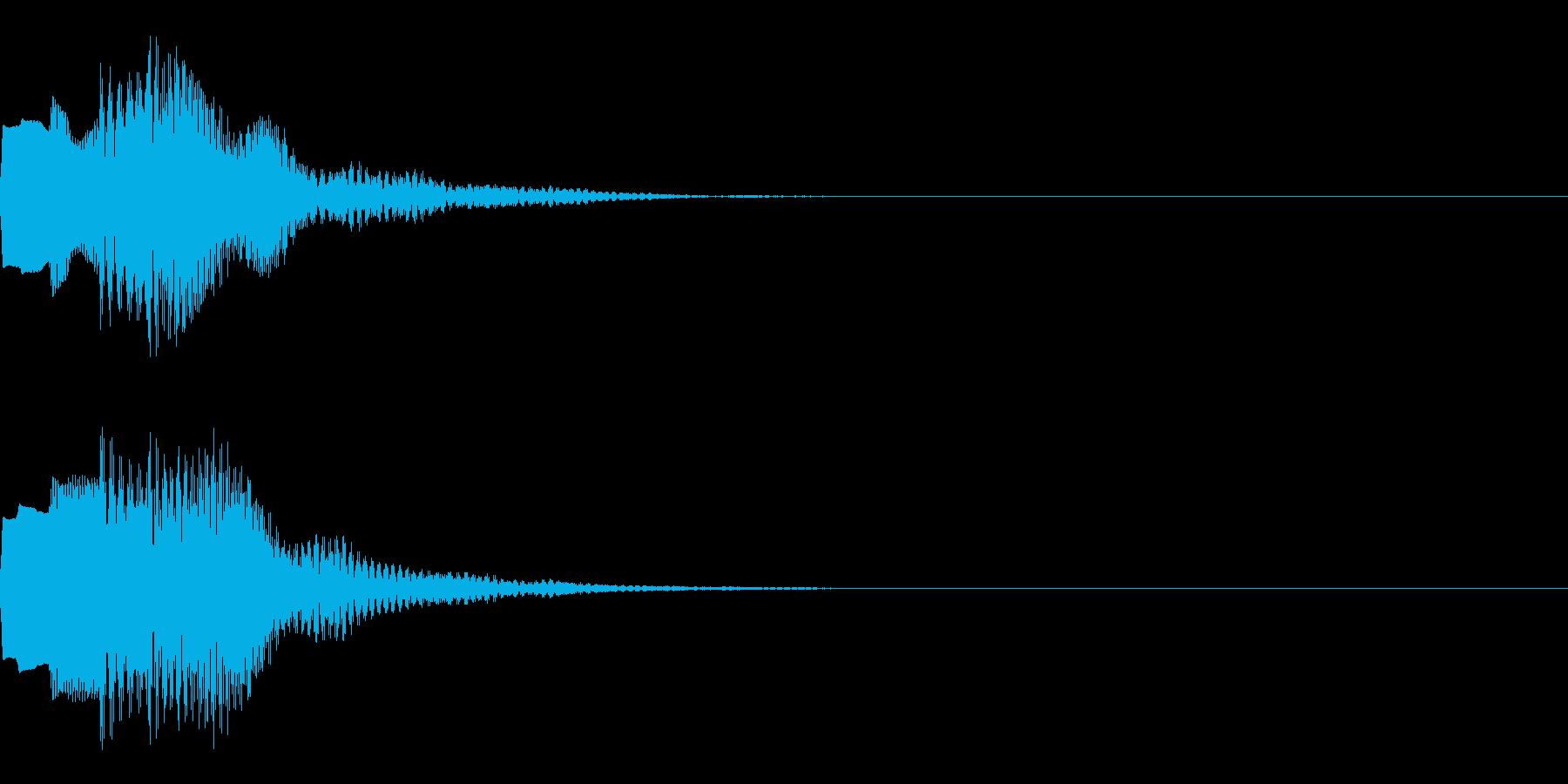 決定音66_シンセAIの再生済みの波形