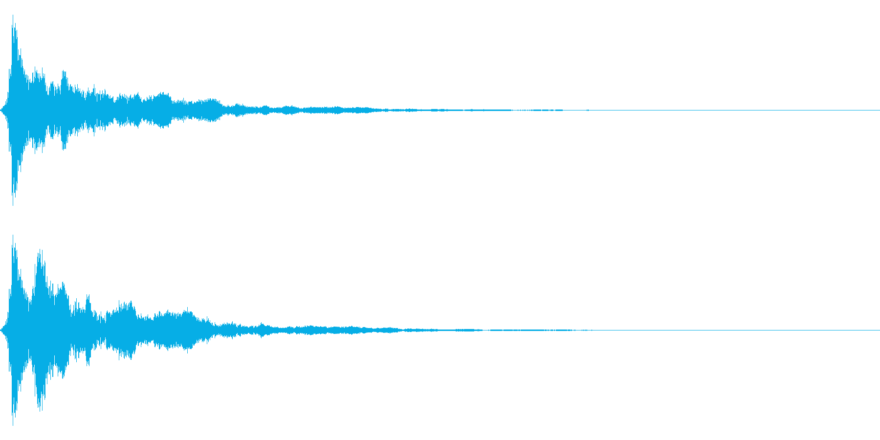 グワンワンワン・・・の再生済みの波形