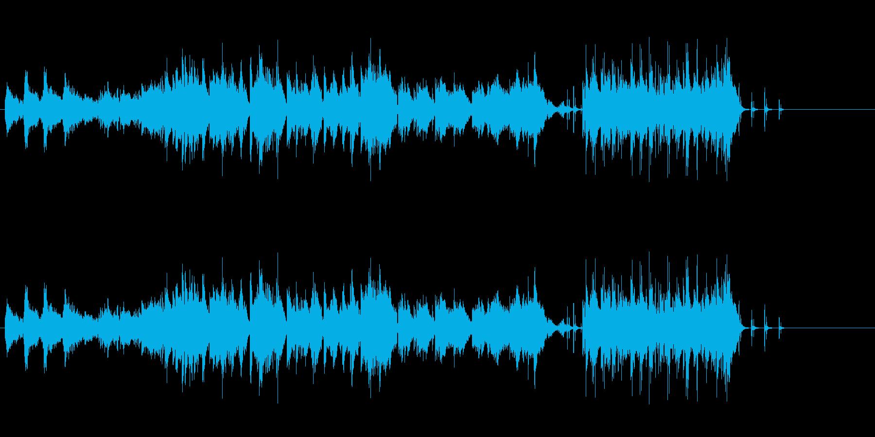 情景・感情的イメージテーマ映像のBGMの再生済みの波形