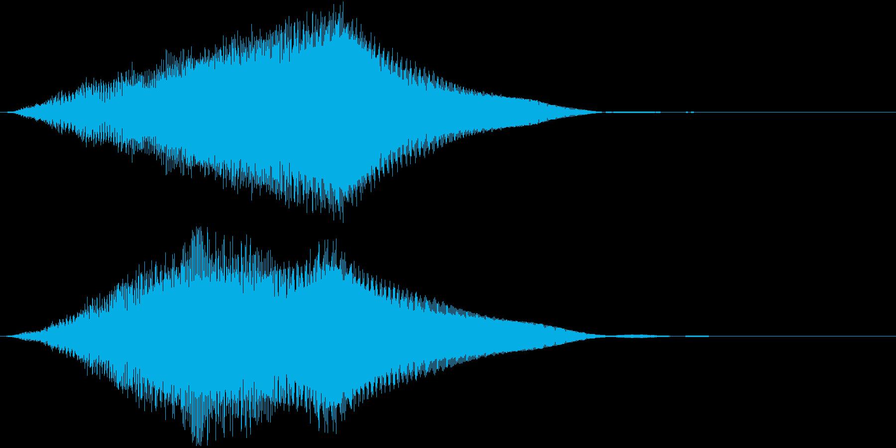 キュワワワーン(サウンドロゴ、ジングル)の再生済みの波形