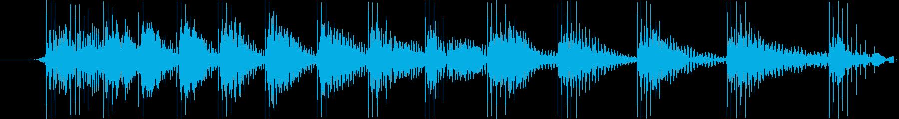 【効果音/ぽーん/てれれれ/スワイプ】の再生済みの波形