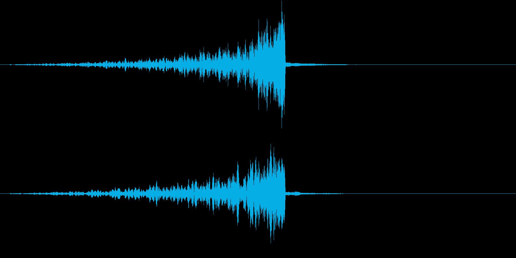 シグナルが発信されていくイメージの再生済みの波形