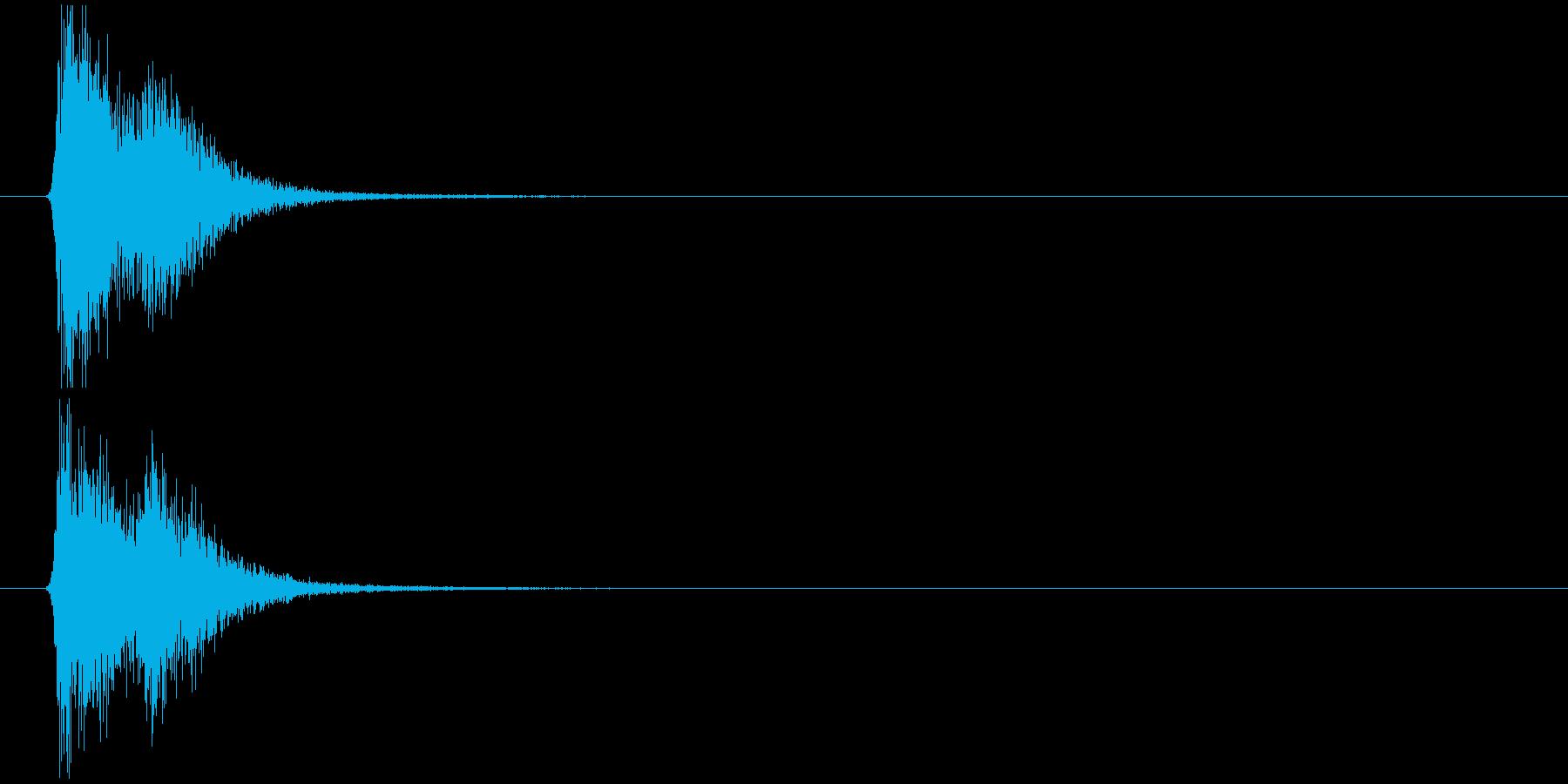 効果音(C)の再生済みの波形
