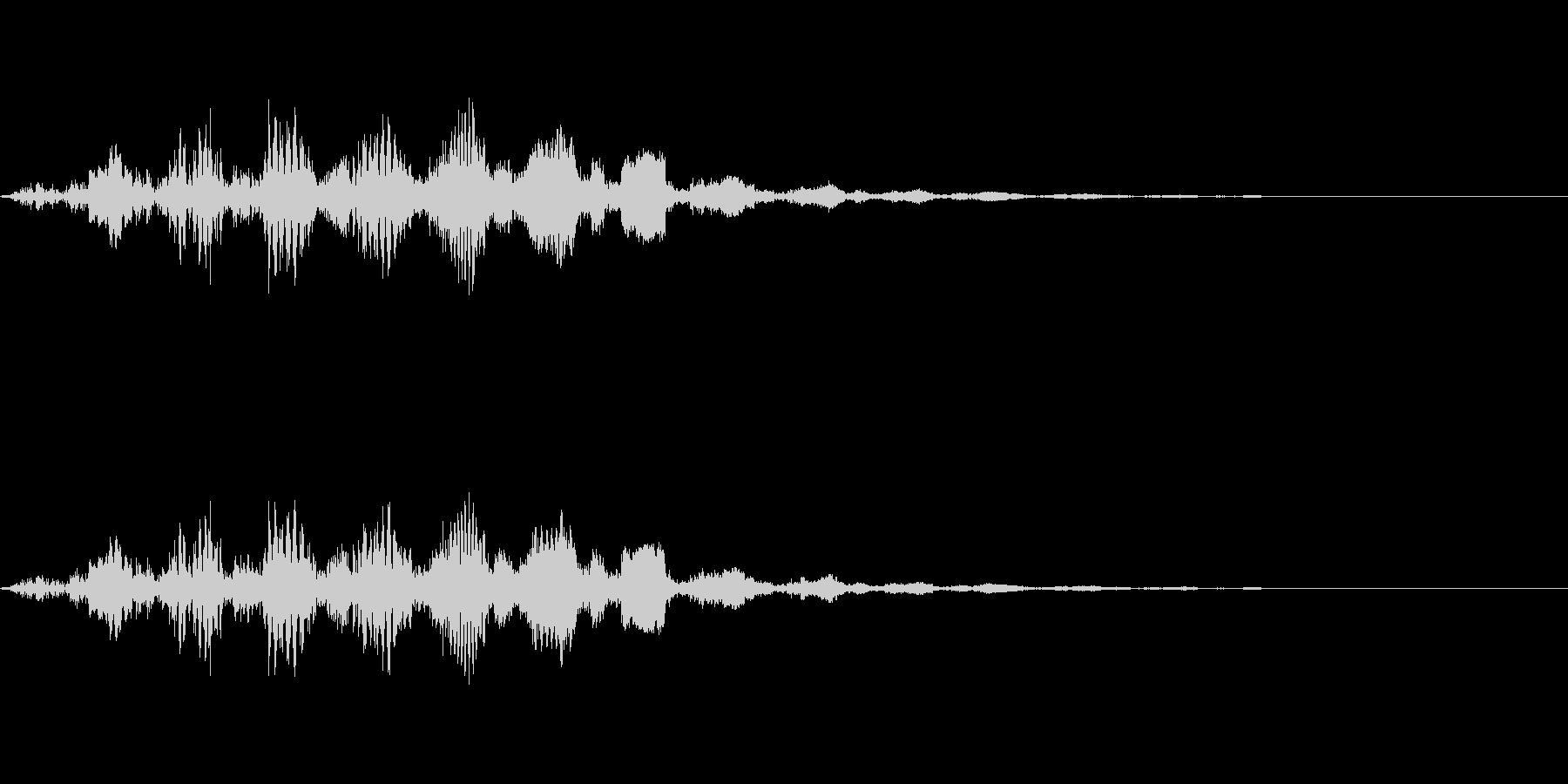 [ヒュイーン]ゴール(8bit系)の未再生の波形