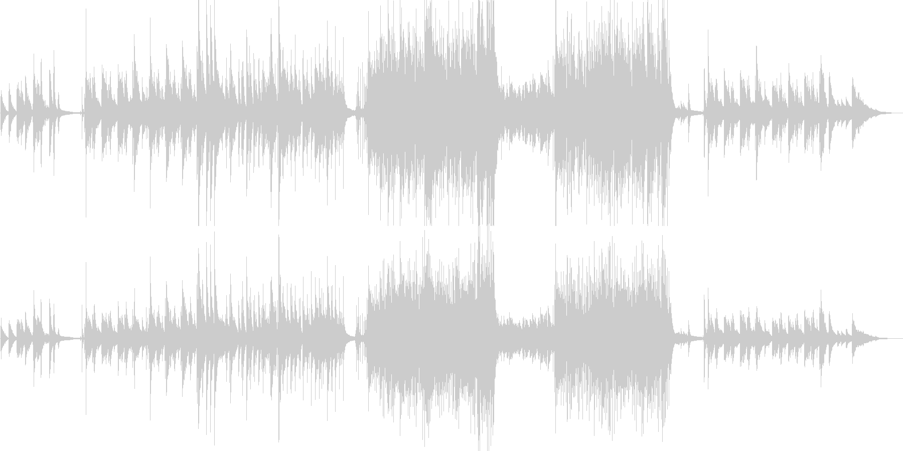 優しい雰囲気のJazzピアノ トリオ構成の未再生の波形