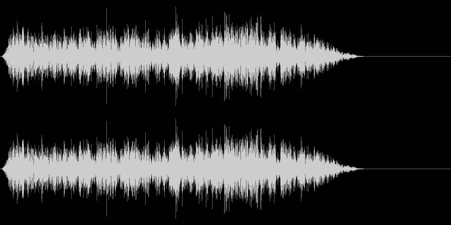引き上げる音の未再生の波形