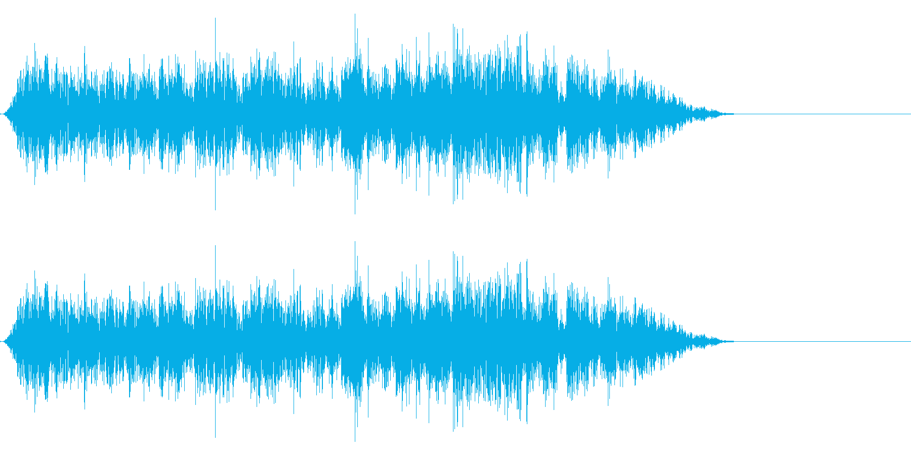 引き上げる音の再生済みの波形