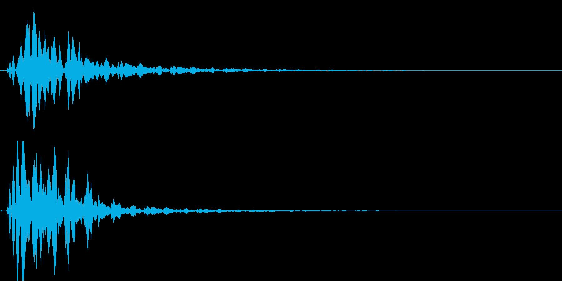 お宝の音の再生済みの波形
