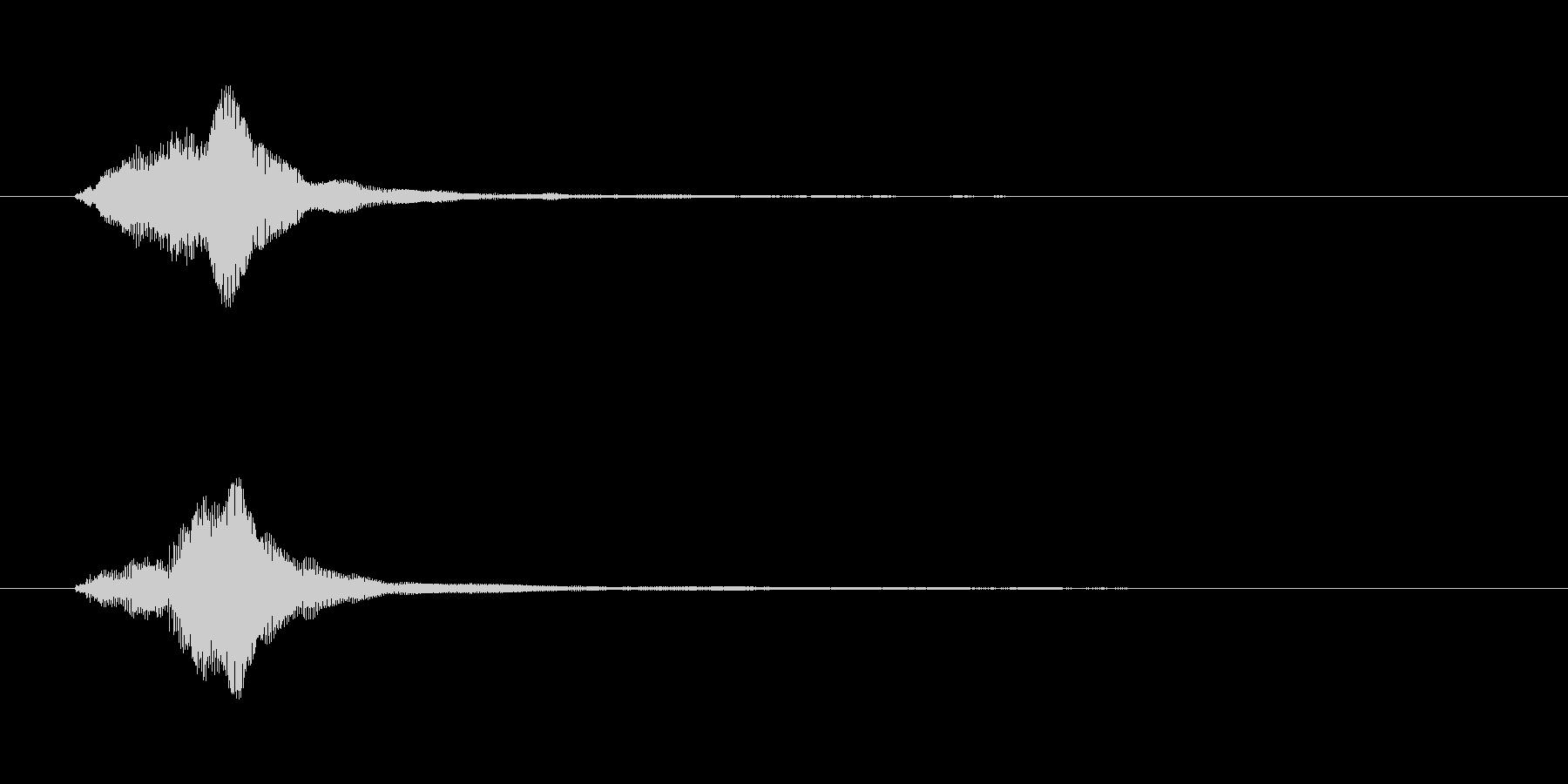 【ジャラン】バイオリンのスタッカートの音の未再生の波形