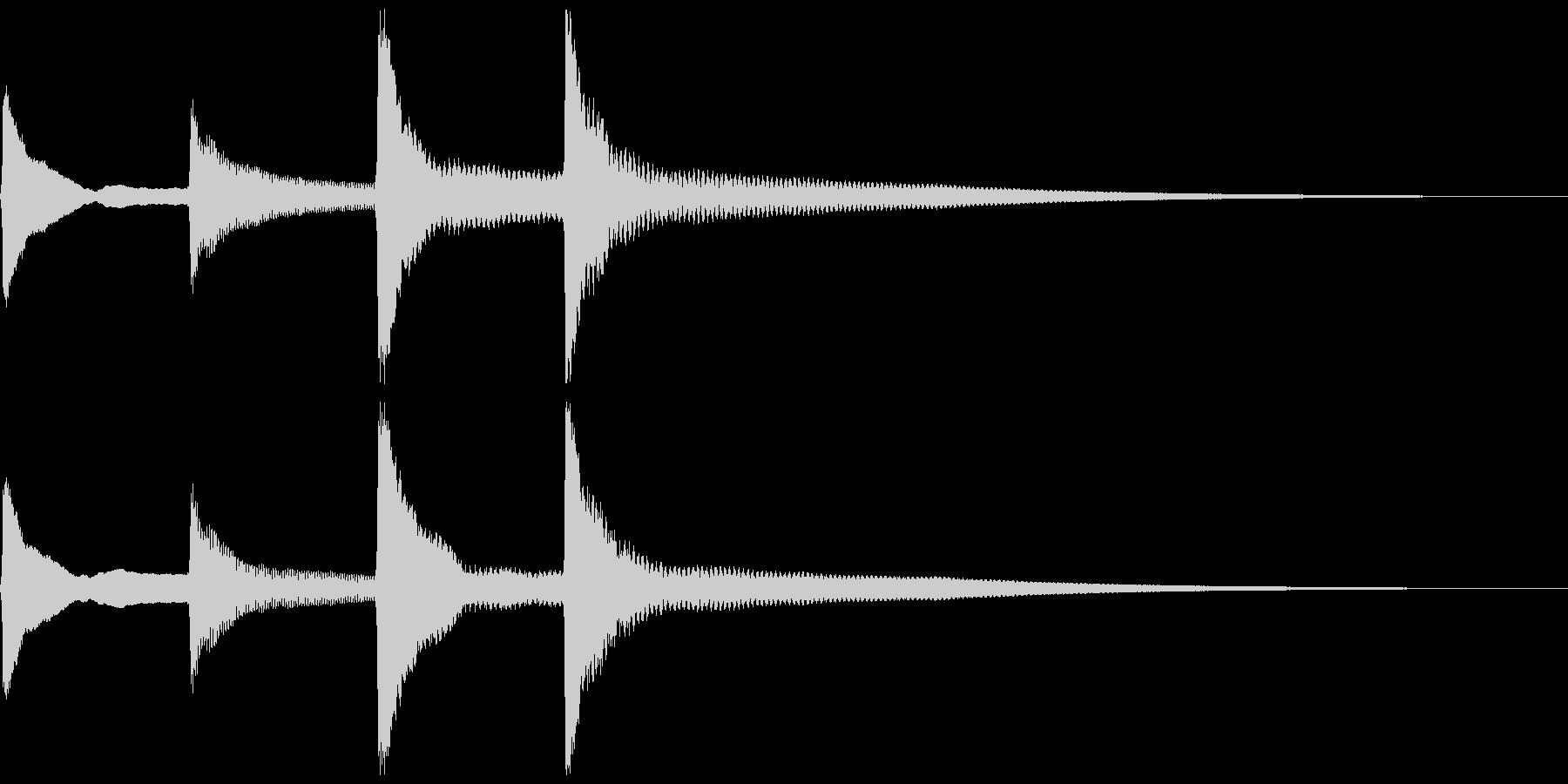 ピンポンパンポン。お知らせ音(終了)の未再生の波形