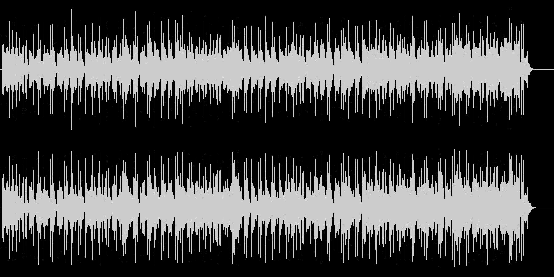 落ち着きのあるハウス系マイナー・ポップスの未再生の波形