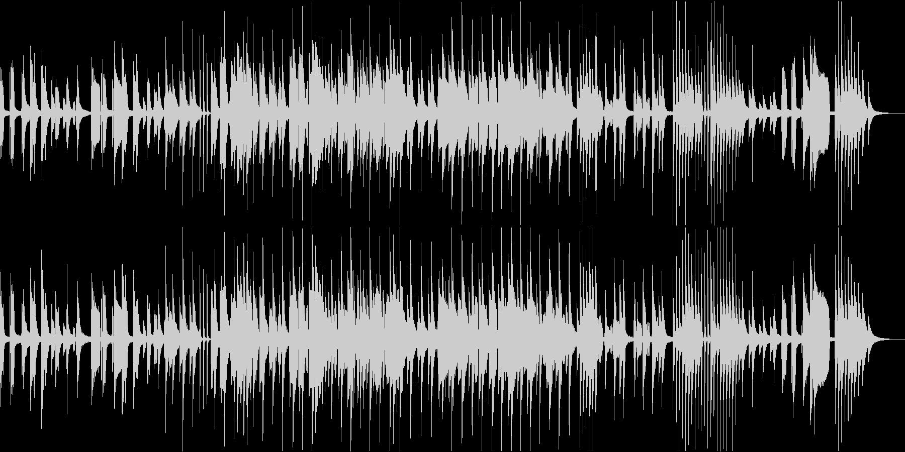 ピアノ弾き語りの優しい音楽の未再生の波形