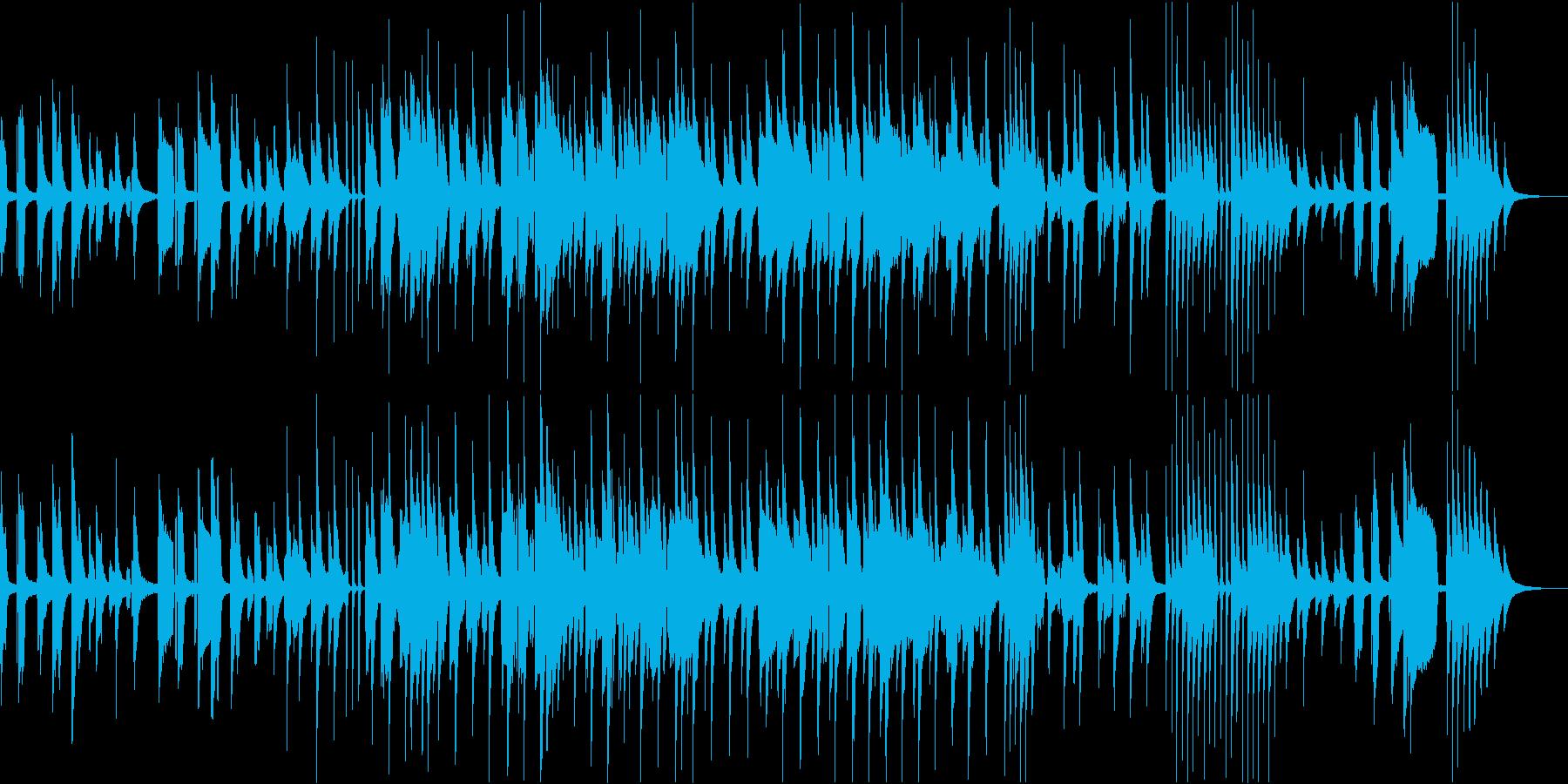 ピアノ弾き語りの優しい音楽の再生済みの波形