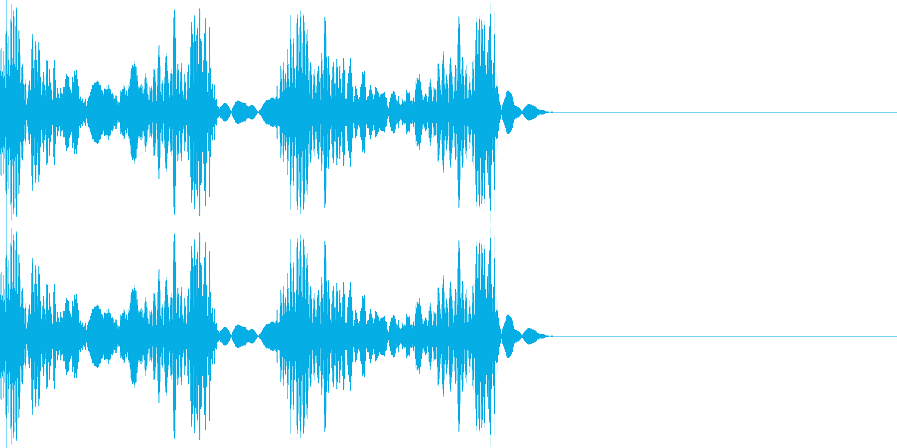 スクラッチ 音 シンプルの再生済みの波形