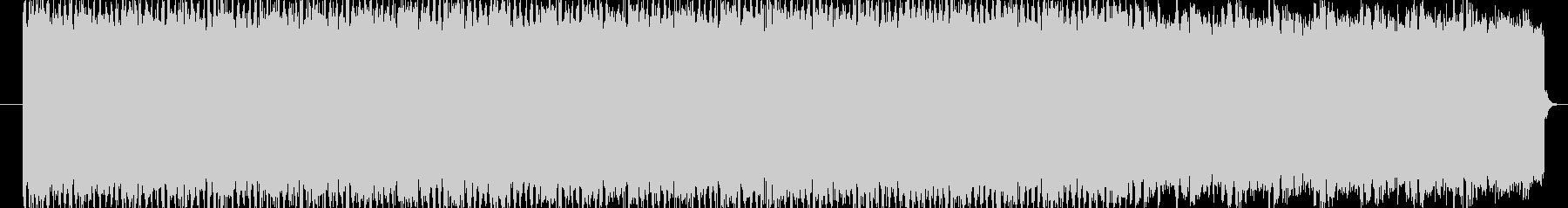 明るい雰囲気の4つ打ちエレクトロの未再生の波形