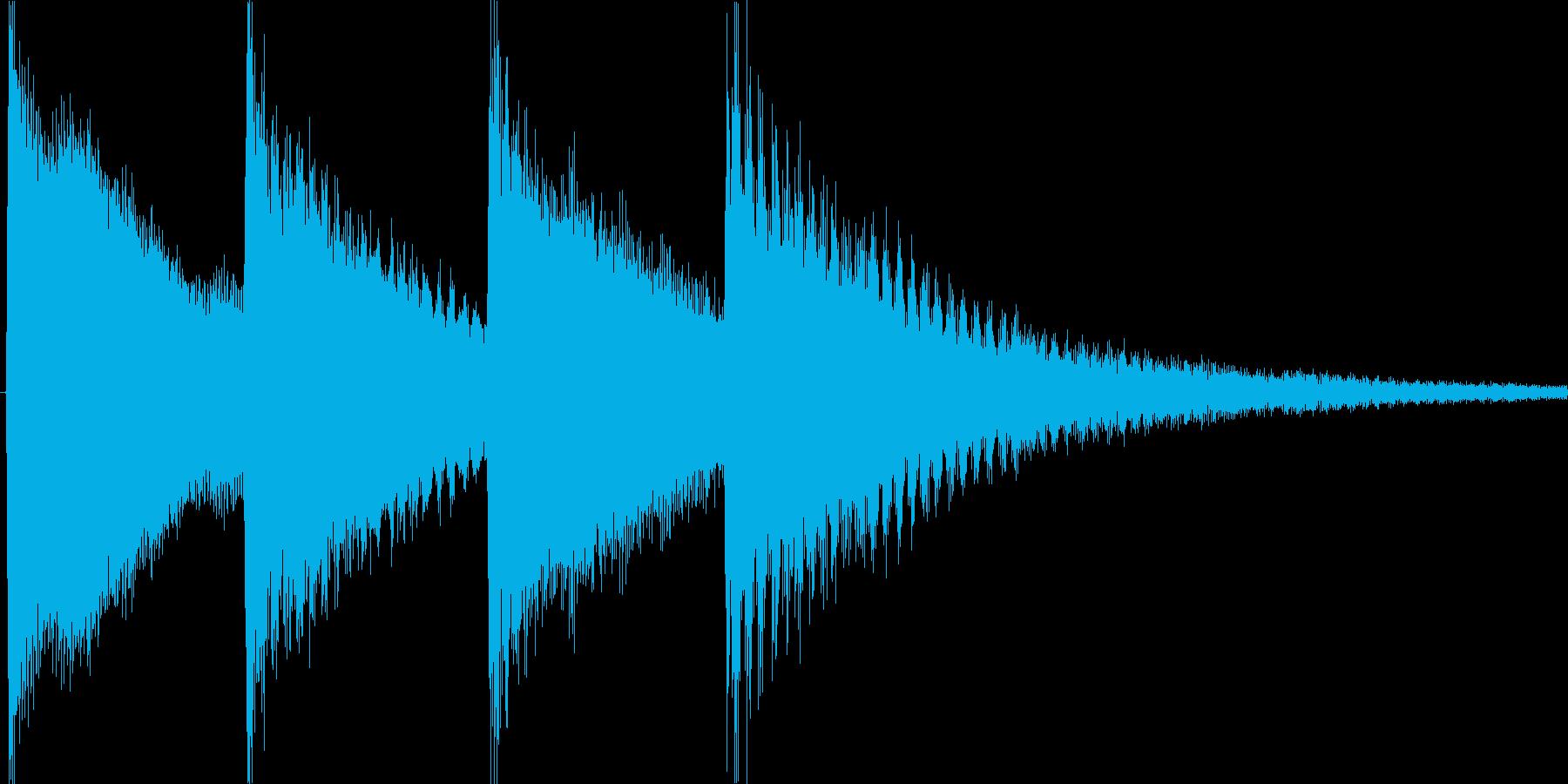 学校のチャイム音ですの再生済みの波形