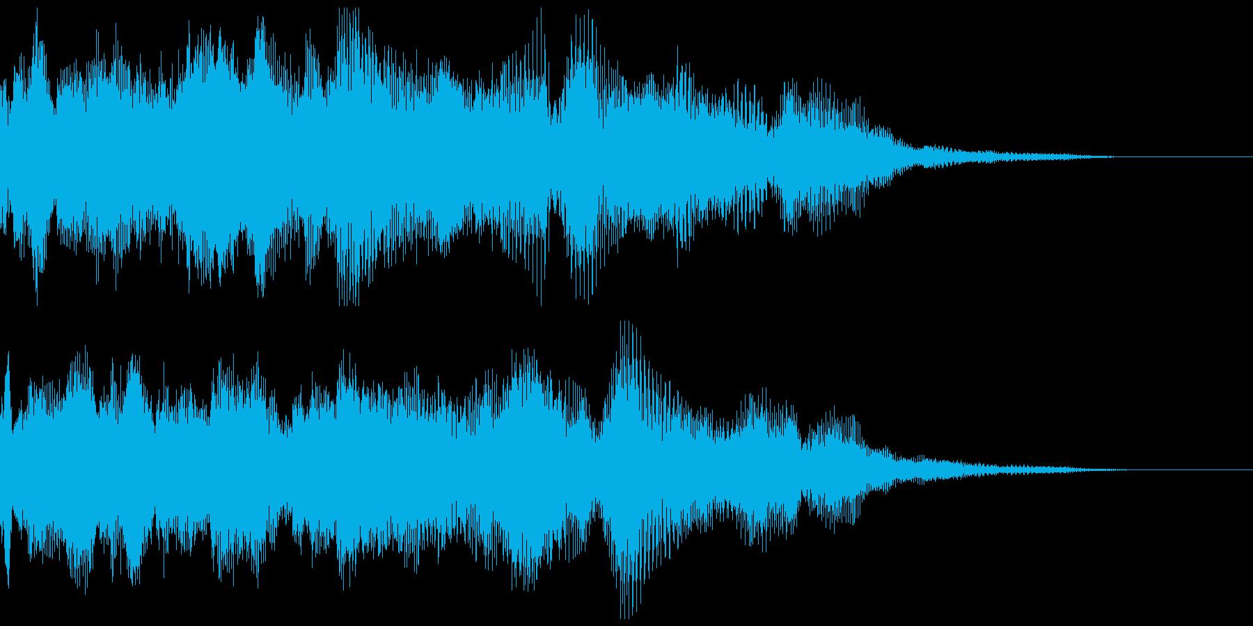 導入演出などに使えるシンセ音の再生済みの波形
