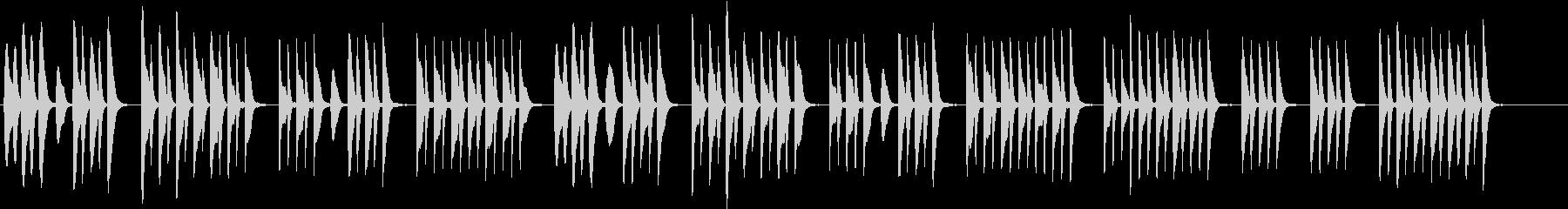 ほのぼのとした場面に使える木琴の曲の未再生の波形
