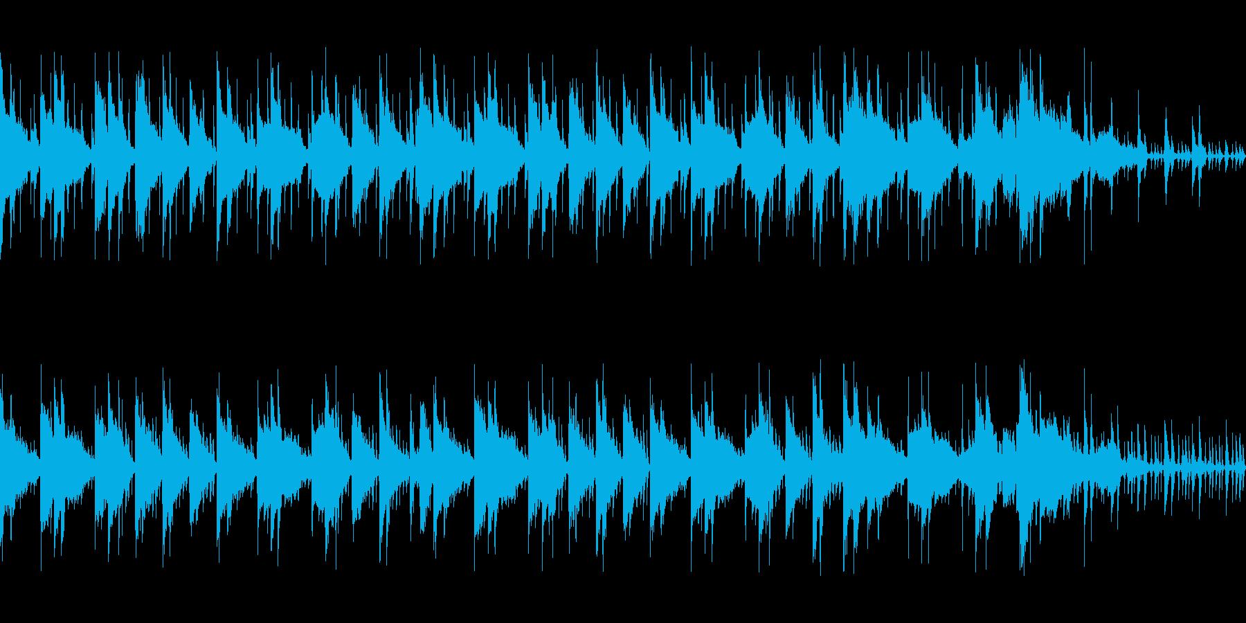 ニュース番組のバックで流れてそうなBGMの再生済みの波形