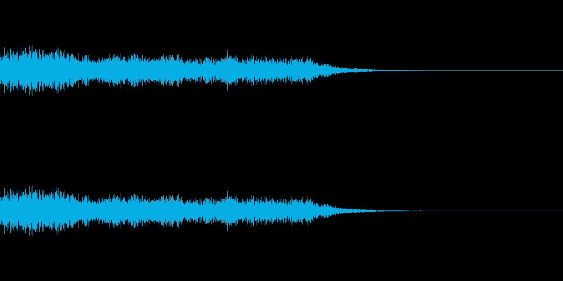 衝撃/昇り/後ろ上がり/じゃじゃーん/1の再生済みの波形