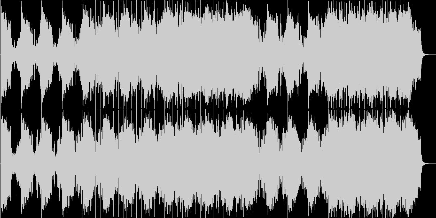 重厚オーケストラ&デジタルの融合サウンドの未再生の波形