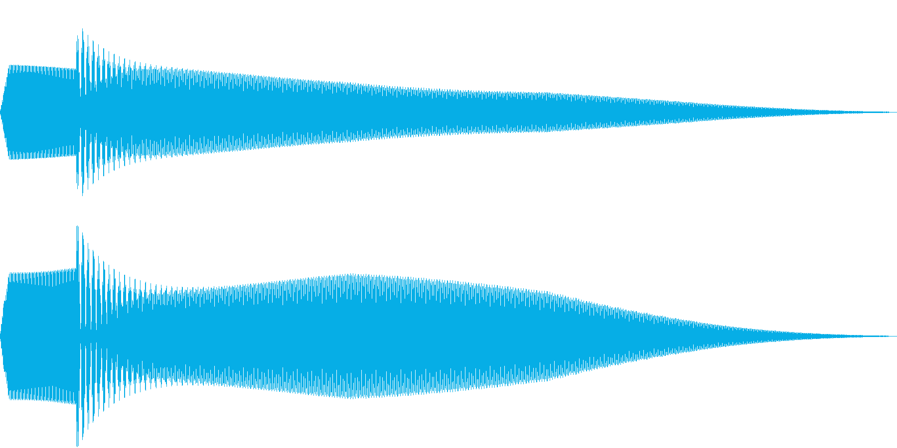 ピポン(キャンセル時の音)の再生済みの波形