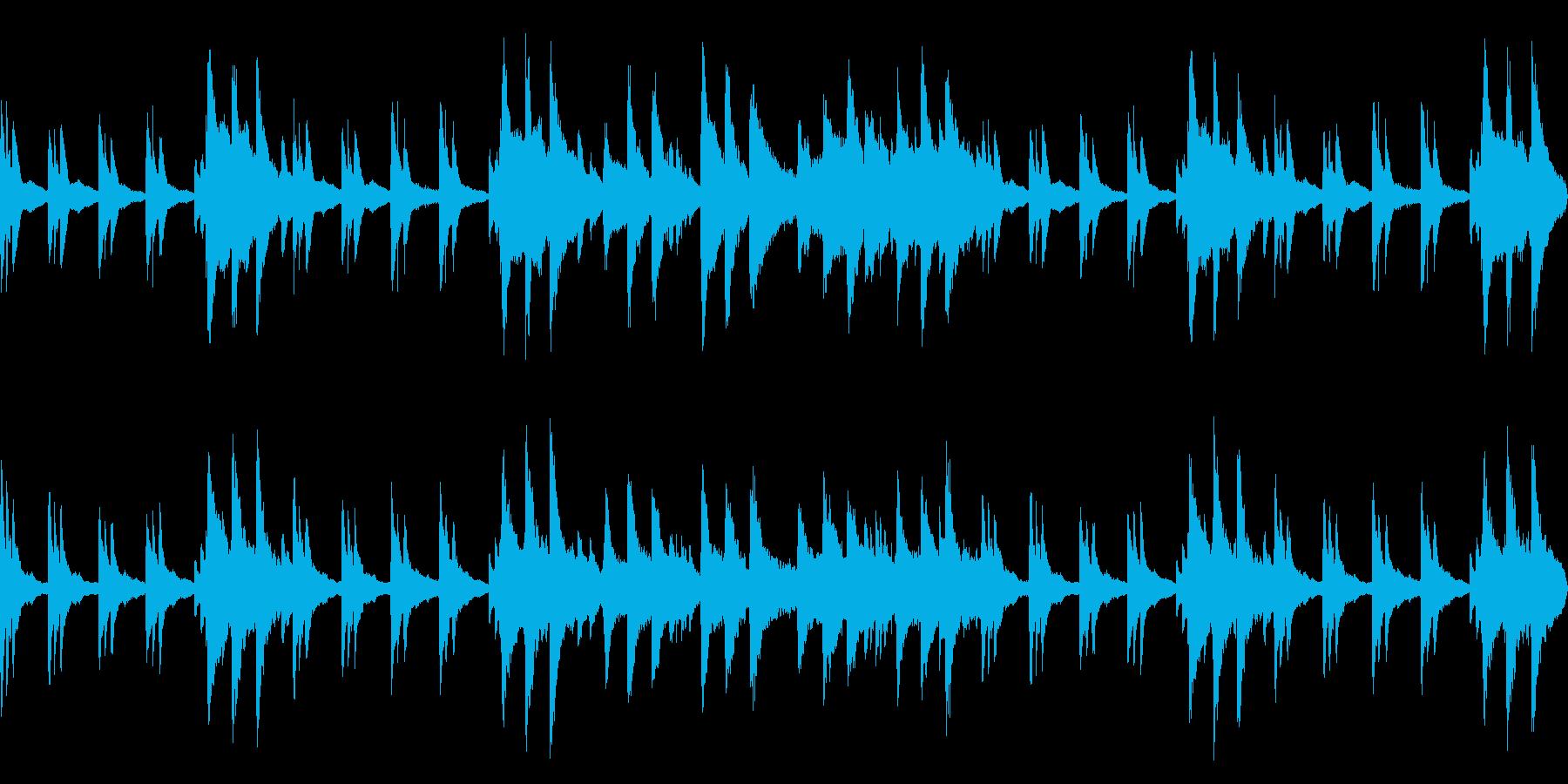 静寂の中で流れる神秘的なピアノloopの再生済みの波形