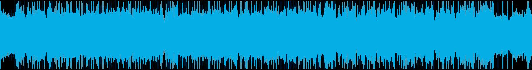 印象的なベースラインとワウギターのロックの再生済みの波形