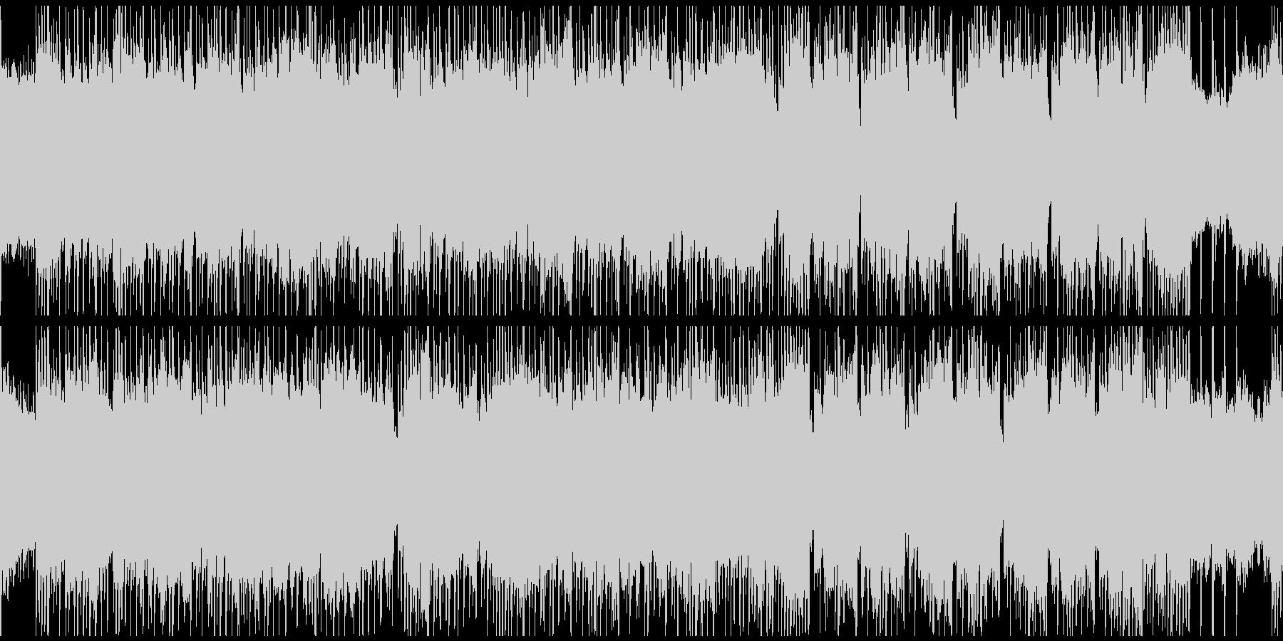 印象的なベースラインとワウギターのロックの未再生の波形